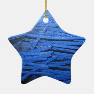 Blue Blur Ceramic Ornament
