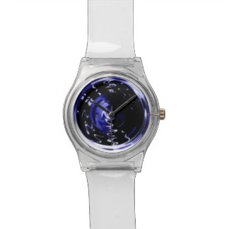 Blue Blurred Motion Custom Wrist Watch