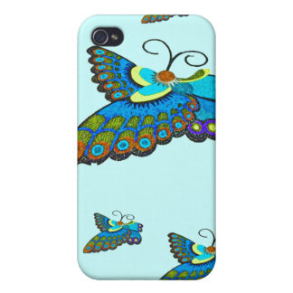Blue Blutterfly iPhone 4 Case
