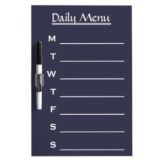 Blue board Chalkboard Daily Menu Weekly Menu