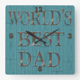 Blue Boards Father's Day Wall Clock
