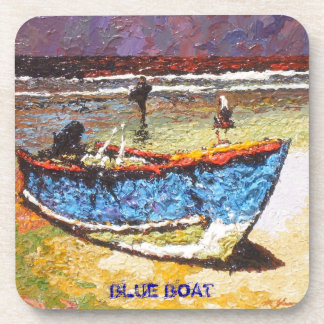 Blue Boat Coaster