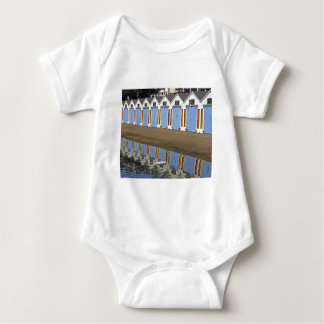 Blue Boat Houses Baby Bodysuit