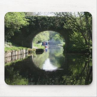 Blue Boat Llangollen Canal Mouse Pad
