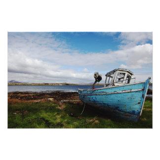 Blue Boat Photo Print