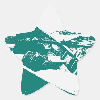 Blue Boat Winslow Homer Foghorn Star Sticker