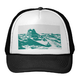Blue Boat Winslow Homer Foghorn Trucker Hat