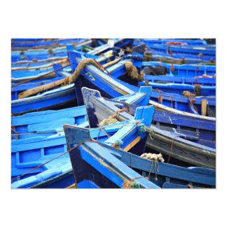 "Blue Boats 5.5"" X 7.5"" Invitation Card"