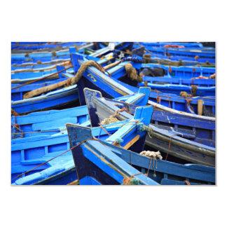 "Blue Boats 3.5"" X 5"" Invitation Card"