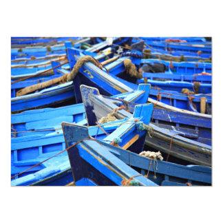 "Blue Boats 6.5"" X 8.75"" Invitation Card"