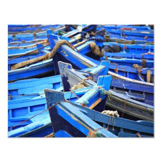 "Blue Boats 4.25"" X 5.5"" Invitation Card"