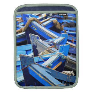 Blue Boats Sleeve For iPads