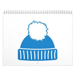 Blue bobble hat calendar