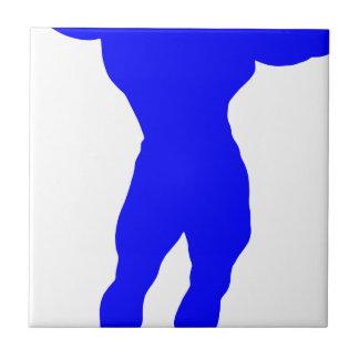 Blue Bodybuilder Tile