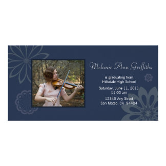 Blue Bohemian Graduation Announcement