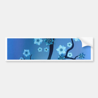 Blue Bokah Blossom Branches Bumper Sticker