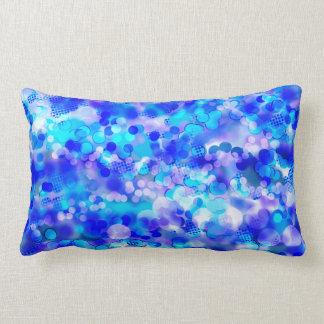Blue Bokeh 92015 Lumbar Pillow