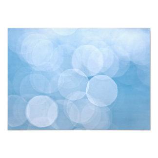 Blue bokeh background card