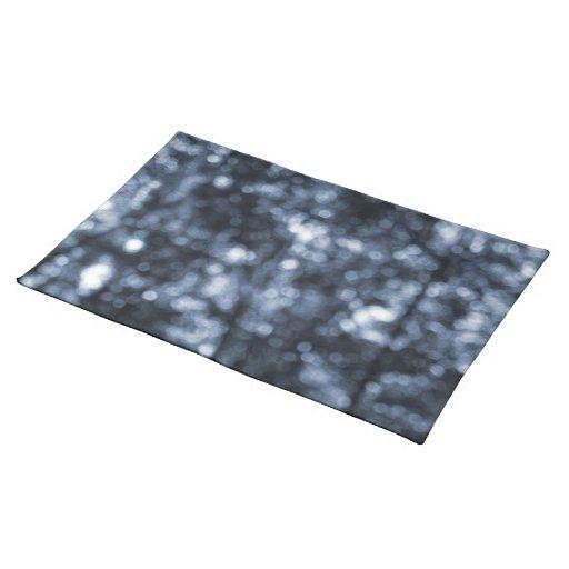 Blue Bokeh Cloth Placemat