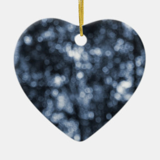 Blue Bokeh Heart Ornament