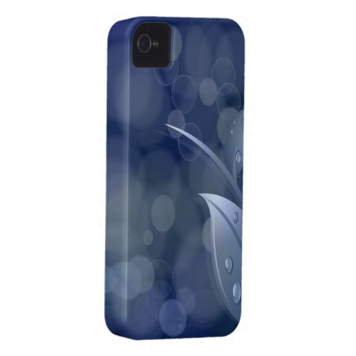 Blue Bokeh Leaves iPhone 4 Cases