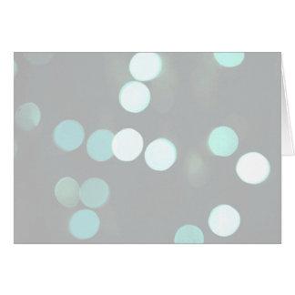 Blue Bokeh Lights Card