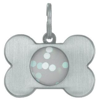 Blue Bokeh Lights Pet ID Tag