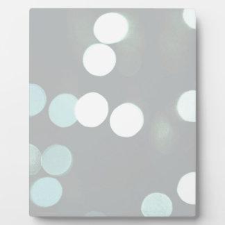 Blue Bokeh Lights Plaque