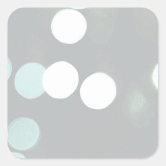 Blue Bokeh Lights Square Sticker