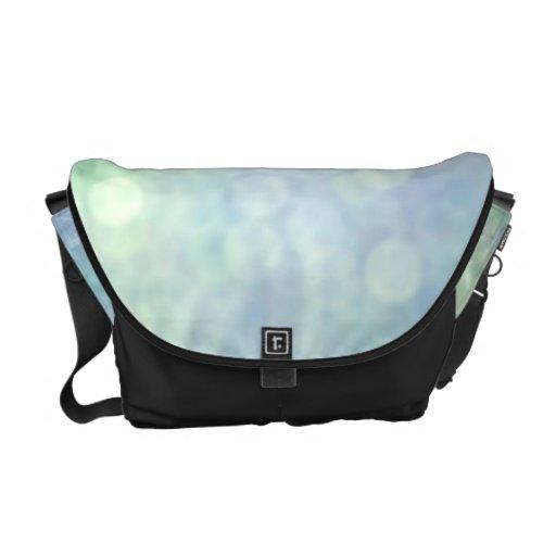 Blue bokeh messenger bag