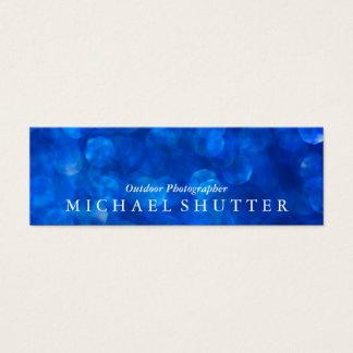 Blue Bokeh Mini Business Card