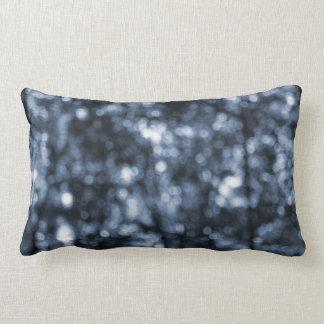 Blue Bokeh Pillow
