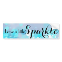 Blue Bokeh sparkle lights pattern Bumper Sticker