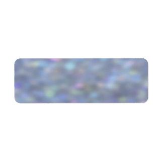 Blue Bokeh Sparkles Label