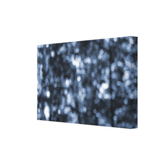 Blue Bokeh Wrapped Canvas