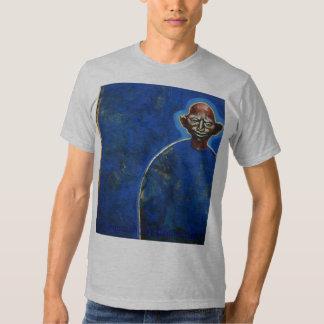 Blue bold man. t-shirt