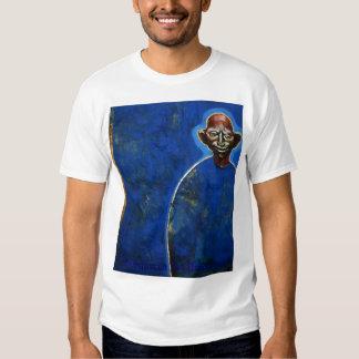Blue bold man. tee shirt