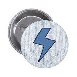 Blue Bolt 2 Inch Round Button
