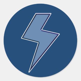 Blue Bolt Classic Round Sticker