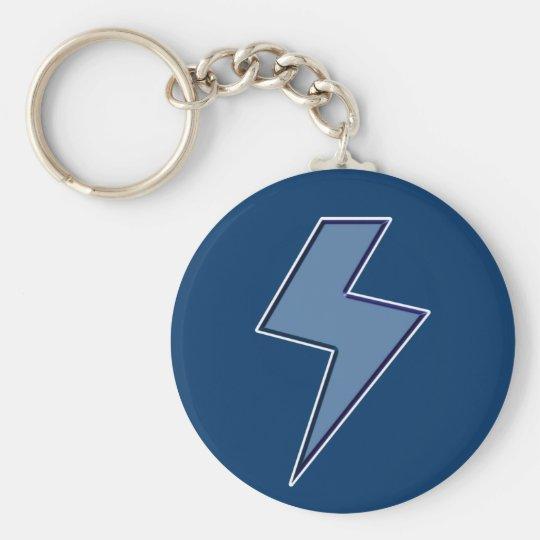 Blue Bolt Keychain