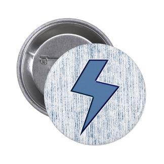 Blue Bolt Pinback Button