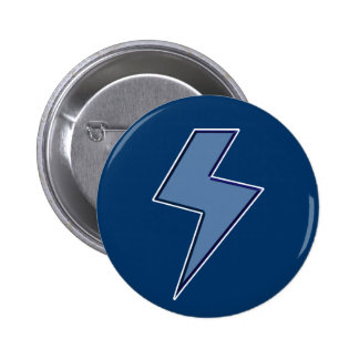 Blue Bolt Pinback Button