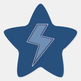 Blue Bolt Star Sticker