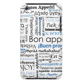 Blue Bon appetit in many languages Barely There iPod Cover