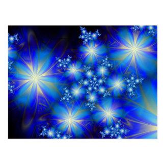 Blue Bonanza Cute Cool Abstract Postcard