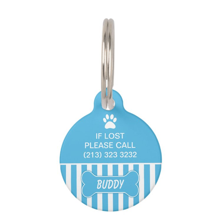 Blue Bone Dog ID Tag