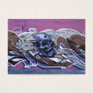 Blue Bonehead Graffiti Business Card