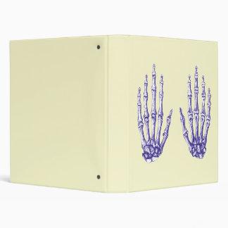 Blue Bones of the Hand 3 Ring Binder