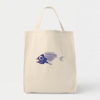 Blue Boney Fish Tote Bag