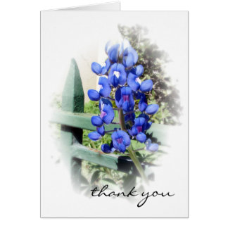 Blue Bonnet Thank You Note Card